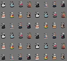 Daleks in Disguise Pattern Photographic Print
