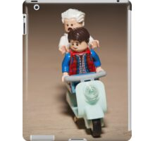 Marty and Doc Brown ride a Scooter iPad Case/Skin