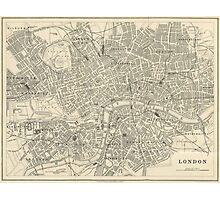 Vintage map of London Photographic Print