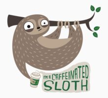 Caffeinated Sloth Kids Tee