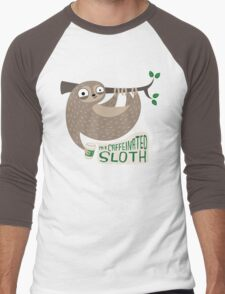 Caffeinated Sloth Men's Baseball ¾ T-Shirt