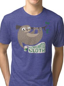 Caffeinated Sloth Tri-blend T-Shirt