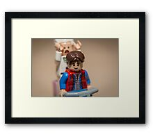 Marty and Doc go for a ride Framed Print