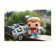 Marty Mcfly Delorean Art Print