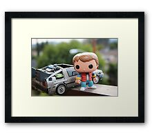 Marty Mcfly Delorean Framed Print