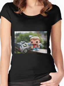 Marty Mcfly Delorean Women's Fitted Scoop T-Shirt