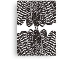 Tribal Feathers  Black Canvas Print