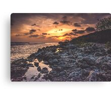 Distant Sun on a Distant Shore Canvas Print