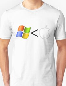 PC less than Mac T-Shirt