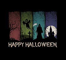 Happy Halloween - 4 Panels by Sol Noir Studios