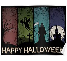 Happy Halloween - 4 Panels Poster