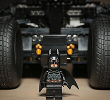 Batman Stare with Tumbler by garykaz