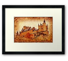 Alcazar de Segovia - Vintage Framed Print