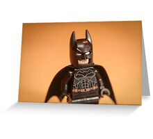 Batman watches Greeting Card