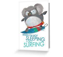 Surfing Koala Greeting Card