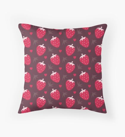 Strawberries and Chocolate Throw Pillow