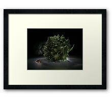 Fractal supper - lightpainted still life Framed Print