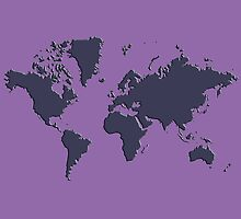 World Splatter Map - npurple by Mark McKinney
