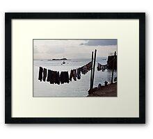 Harbour Line Framed Print