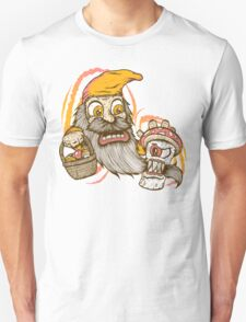 Gnome being attacked by killer shroom! Unisex T-Shirt