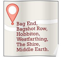 If Middle Earth Had GPS Poster