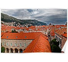 The Roofs of Dubrovnik Poster