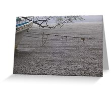 Heavy Rain Shower  Greeting Card