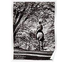 Horse & Rider B&W (4) Poster