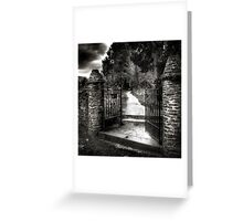 The Monk's Gate Greeting Card