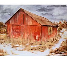 The Red Barn- Acrylic Painting Photographic Print