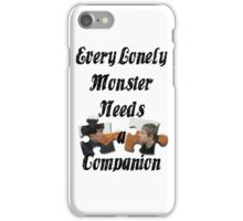 Every Lonely Monster... [Black/ Johnlock] iPhone Case/Skin