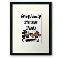 Every Lonely Monster... [Black/ Johnlock] Framed Print