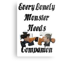 Every Lonely Monster... [Black/ Johnlock] Metal Print