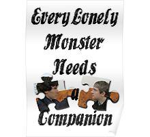 Every Lonely Monster... [Black/ Johnlock] Poster