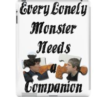 Every Lonely Monster... [Black/ Johnlock] iPad Case/Skin