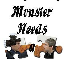 Every Lonely Monster... [Black/ Johnlock] by thescudders