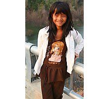 Dak Lak bridge girl 2 Photographic Print