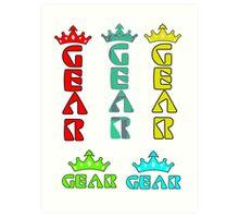 Gear Glass Horizontal Vertical Design Art Print