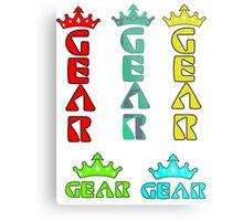 Gear Glass Horizontal Vertical Design Metal Print