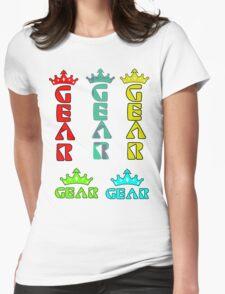 Gear Glass Horizontal Vertical Design Womens Fitted T-Shirt