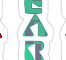 Gear Glass Horizontal Vertical Design Sticker