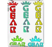 Gear Glass Horizontal Vertical Design iPad Case/Skin