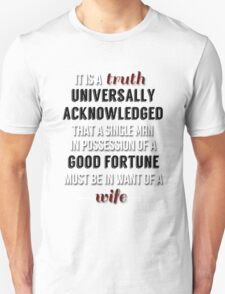 Truth universally acknowledged T-Shirt