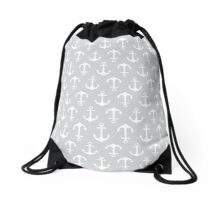 Anchors Aweigh - gray Drawstring Bag