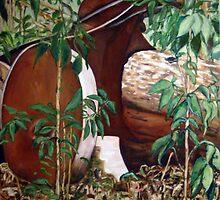 Wheel in Bush by Lorry666