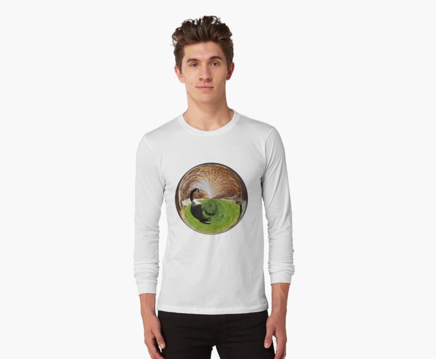 Swirly Goose Amazing Circle T-shirt by Judi FitzPatrick
