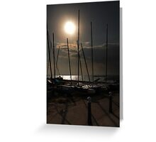 evening masts Greeting Card