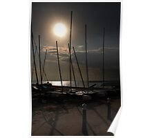 evening masts Poster
