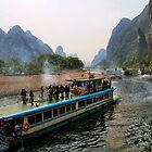 Traffic on the Li River by Jennifer Bailey