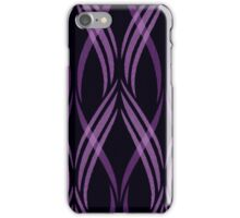 Black and Pink Abstract Ribbon Curls Pattern iPhone Case/Skin
